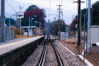 JR飯田線・伊那田島駅(長野県:2001年11月)