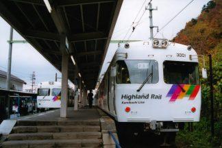 アルピコ交通上高地線・新島々駅(長野県:2001年11月)