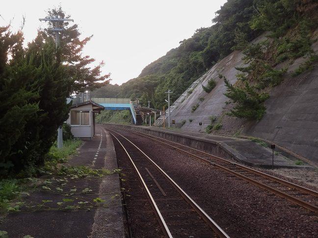 6時過ぎになってすっかり明けた宇田郷駅に戻ってきた