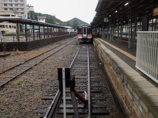 JR参宮線の鳥羽駅は行き止まり構造