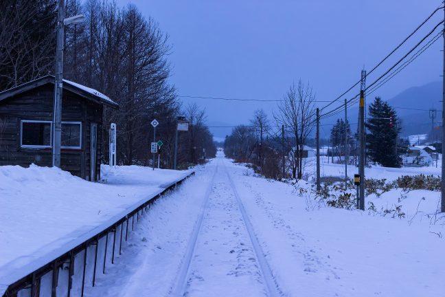 JR石北本線・旧白滝駅(北海道:2016年1月)