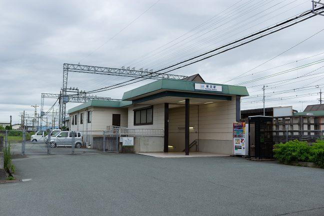 櫛田駅は地下通路で上下ホームが結ばれている
