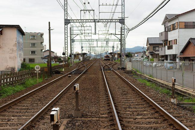 櫛田駅と同様の駅構造を持つ明野駅