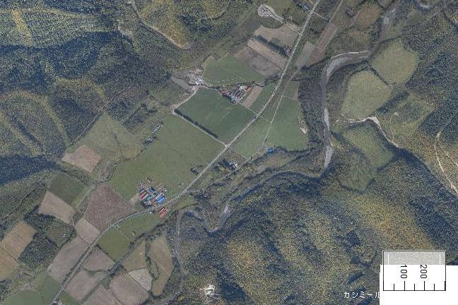 空撮画像:旧白滝駅周辺