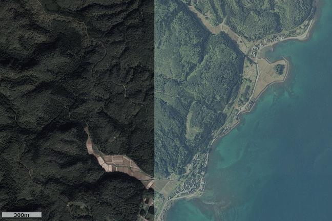 空撮画像:能登鹿島駅周辺