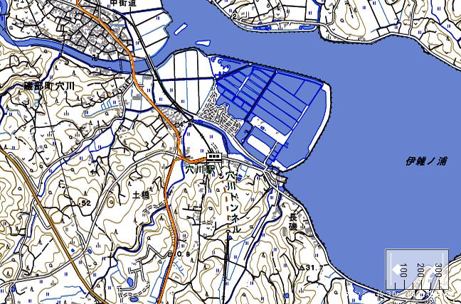 地形図:穴川駅周辺図