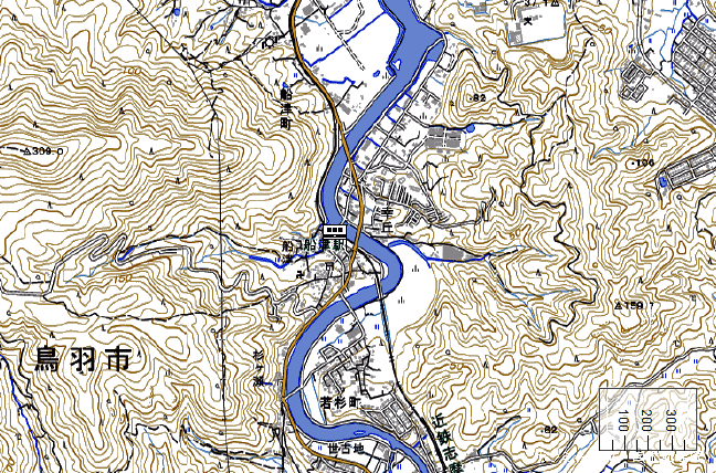 地形図:船津駅周辺
