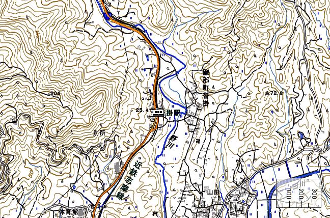 地形図:沓掛駅周辺