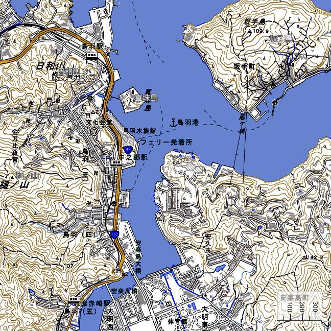 地形図:中之郷駅周辺
