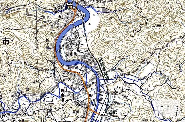 ルート図:船津~加茂間