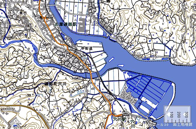 ルート図:志摩磯部~穴川間