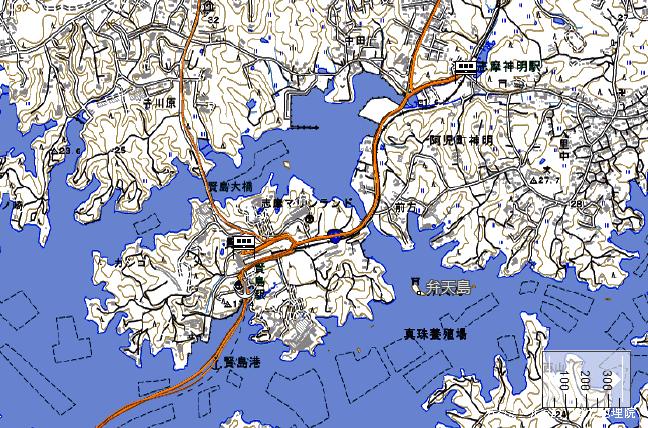 ルート図:志摩神明~賢島間