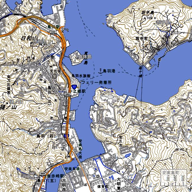 ルート図:鳥羽~志摩赤崎間