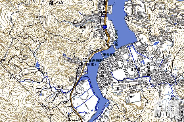 地形図:志摩赤崎駅周辺