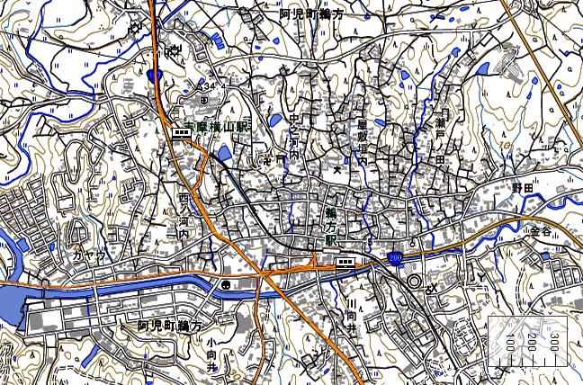 地形図:志摩横山駅・鵜方周辺