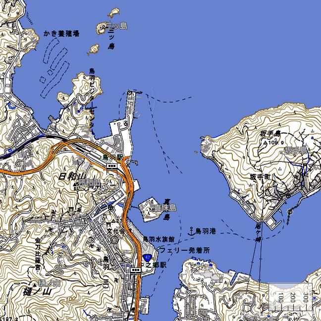 地形図:鳥羽駅周辺