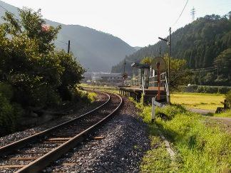 長良川鉄道・自然園前駅(岐阜県:2002年8月)