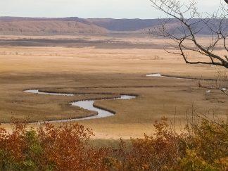釧路湿原・宮島岬(北海道:2002年10月)