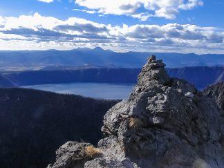 カムイヌプリと摩周湖(北海道:2002年11月)