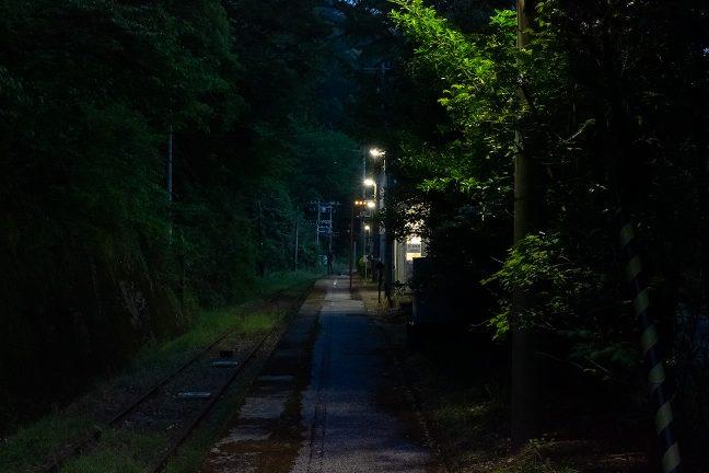 この日は、鉄道ファンが一人、乗り継ぎの合間を利用して駅を訪れていた