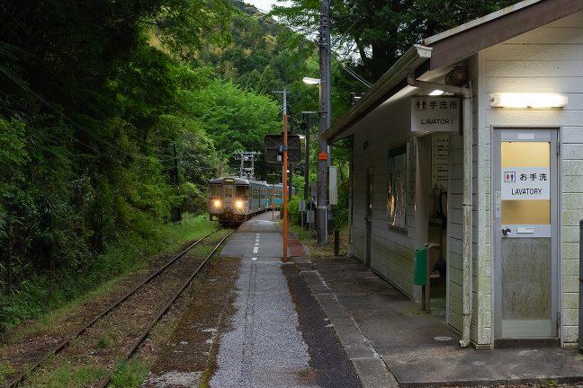 一夜を過ごした新改駅を去る時が来た