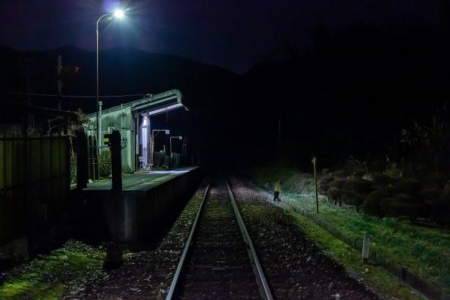 明知鉄道・飯沼駅(岐阜県:2016年12月)