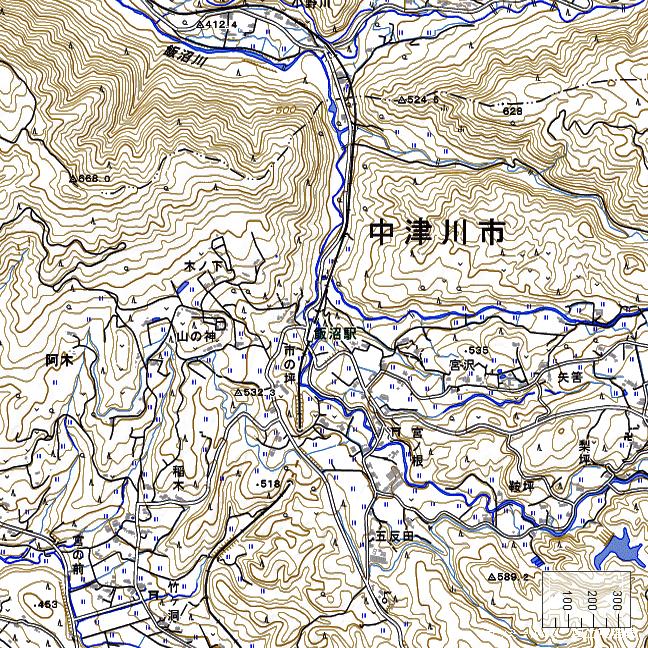 地形図:飯沼駅周辺