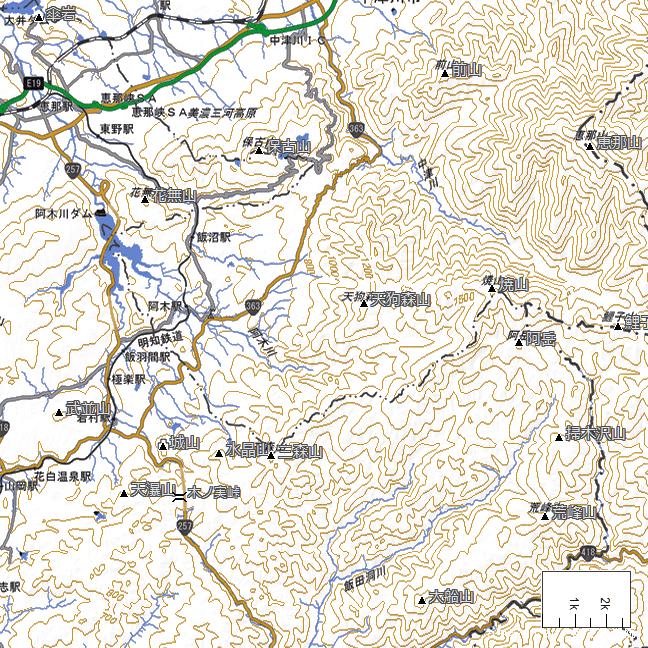 地形図:飯沼駅周辺広域図
