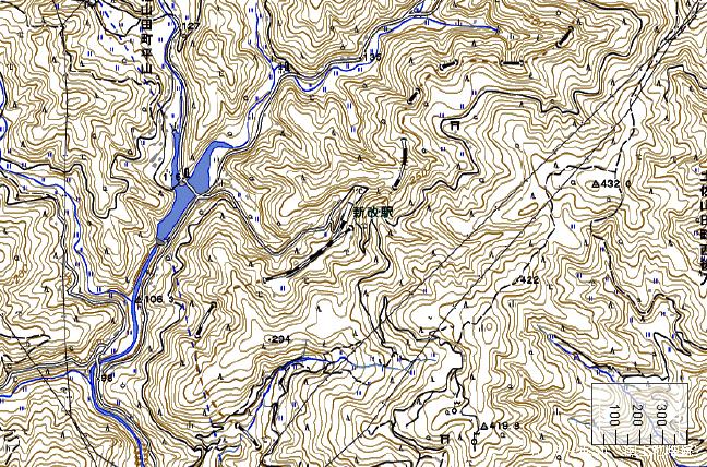 地形図:新改駅周辺