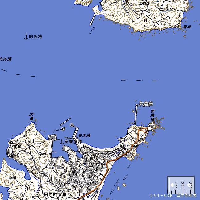 地形図:安乗崎周辺