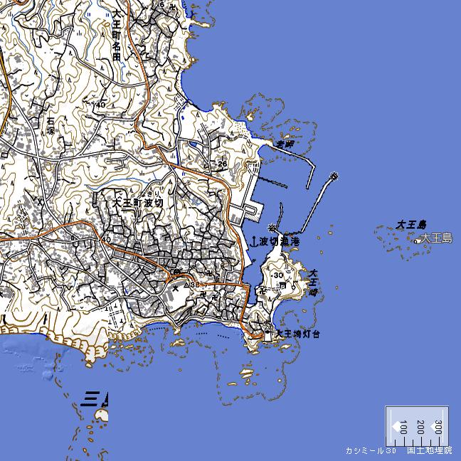地形図:大王崎周辺