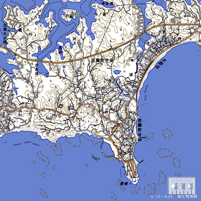 地形図:麦崎周辺