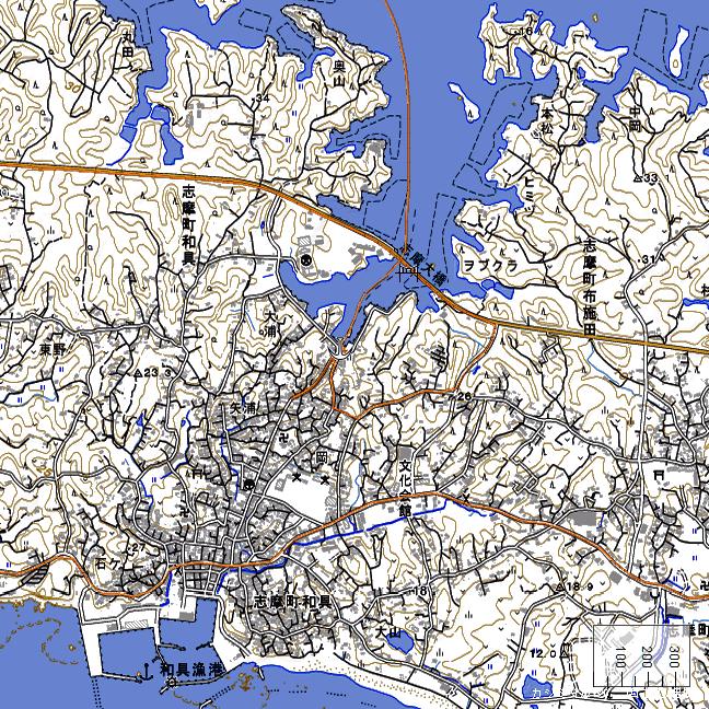 地形図:和具浦周辺