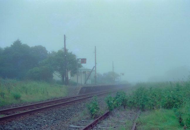 JR根室本線・初田牛駅(北海道:2001年8月)