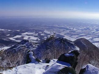 天望山から望む十勝平野(北海道:2002年11月)