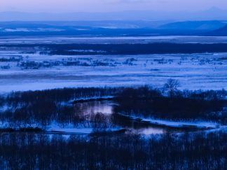 細岡展望台から望む釧路湿原(北海道:2003年2月)