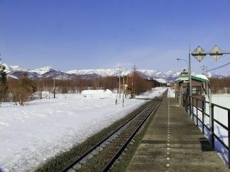 JR根室本線・羽帯駅(北海道:2003年3月)