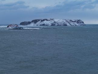 厚岸湾・大黒島と小島(北海道:2003年3月)