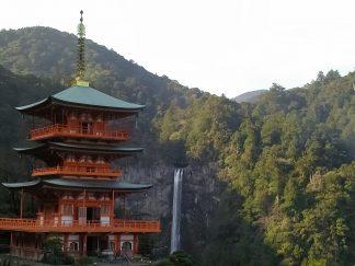 那智の滝と青岸渡寺(和歌山県:2003年3月)