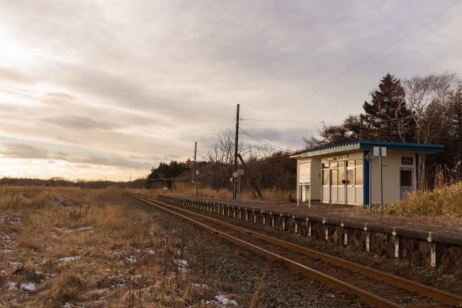 JR根室本線・初田牛駅(北海道:2015年12月)