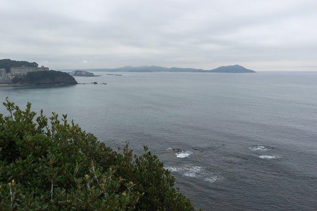 展望台からの眺めも今日は曇天