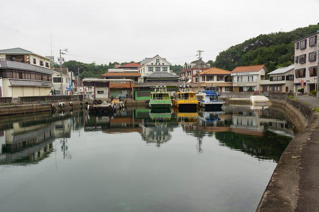 磯笛岬から1時間程度のライディングで7時前はに賢島港に到着