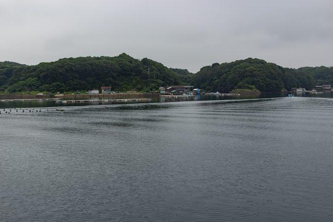 穏やかな和具漁港は天然の良港の雰囲気