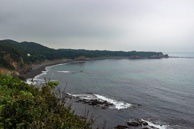 御座岬から岩井崎への海岸線