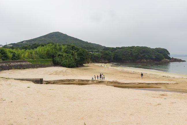 御座岬方面と白浜