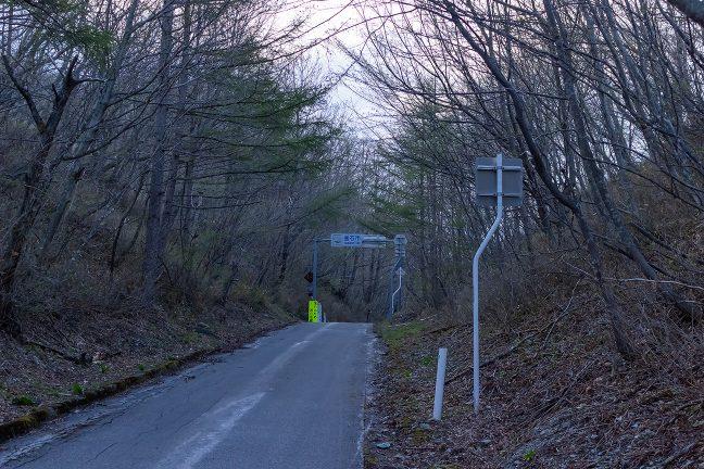早朝の箱根峠に到着した
