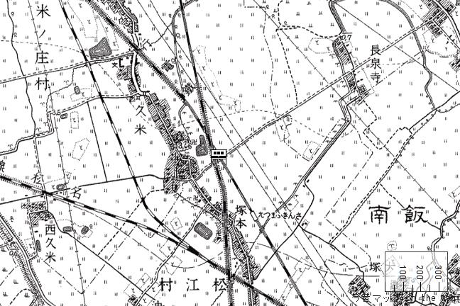 旧版地形図:松ヶ崎駅周辺(1937/12/28発行)