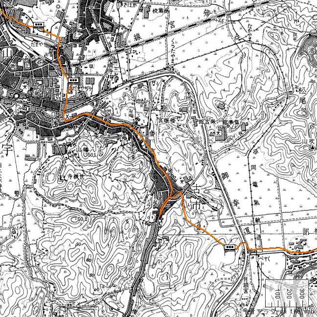 旧版地形図:宇治山田・五十鈴川周辺(1940/07/30発行)