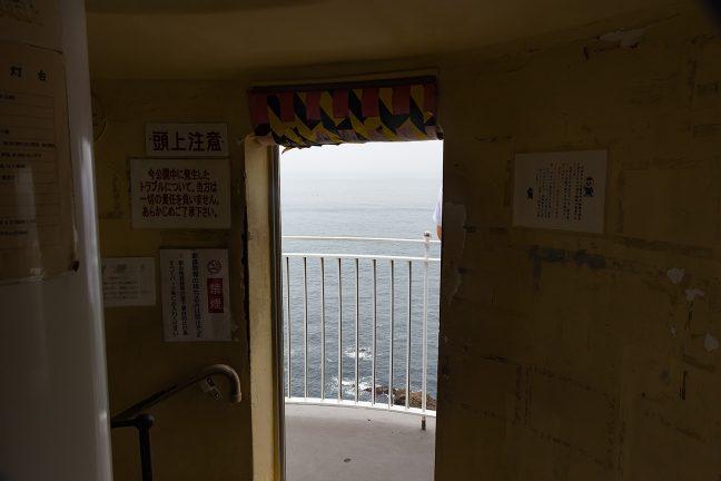 灯台内部の階段から見るとこんな感じ