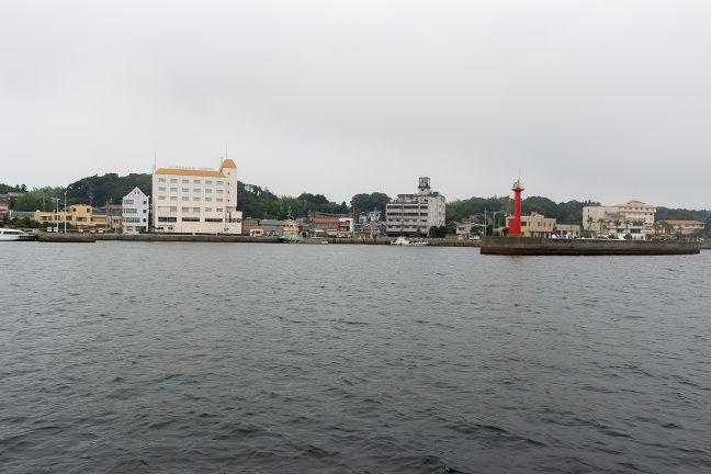 渡鹿野島が近づいてきた